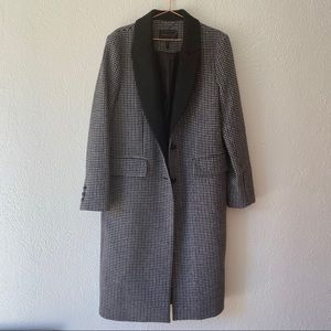 BCBGMAXAZRIA   plaid wool long coat